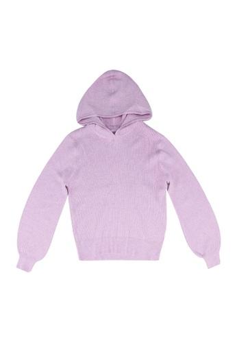 ONLY purple Florelle Rib Hoodie 08D47KA34F6118GS_1