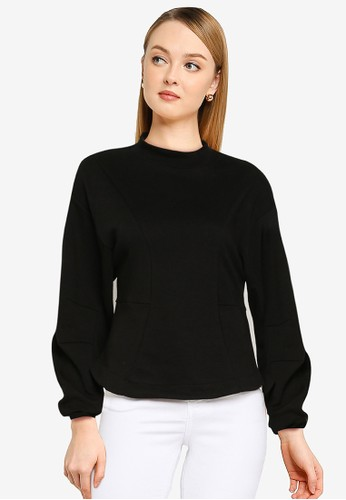 ONLY black Stella Long Sleeves Sweater 4A6F5AA8E3D268GS_1