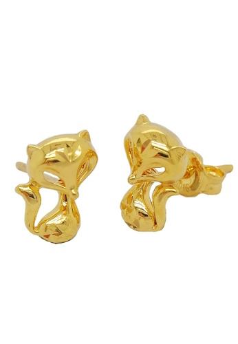 LITZ gold LITZ 916 (22K) Gold Foxy Earrings 0D0F8AC45CD318GS_1