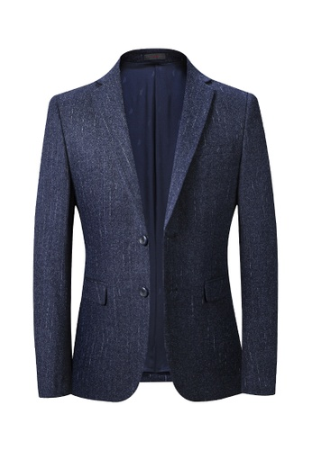 HAPPY FRIDAYS Casual Slim Textured Suit 2052. E4C11AA5A25A01GS_1