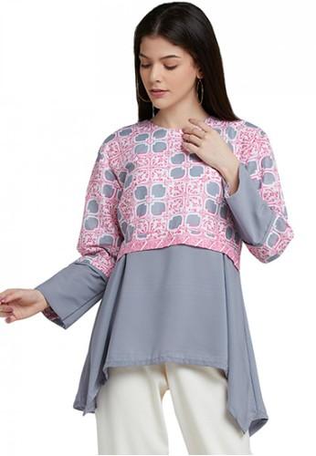 Batik Arustaya pink Kananta Blouse Batik Wanita Modern 62210AA02D6223GS_1