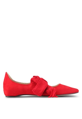 ZALORA red Bow Ballerinas FE6AFSHF979178GS_1