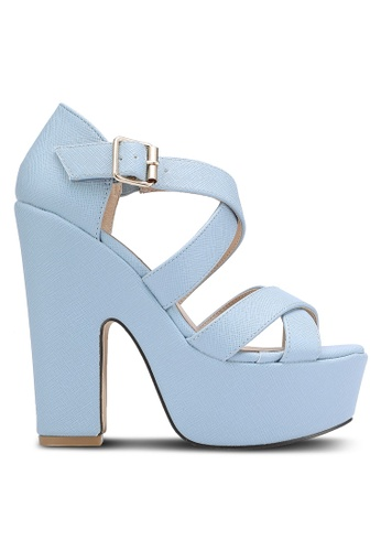 Nose blue Strappy Platform Wedge Sandals NO327SH0RC96MY_1