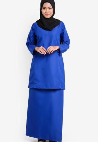 Amar Amran blue and navy Baju Kurung Qasidah AM362AA98JWBMY_1