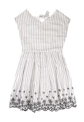 FOX Kids & Baby white Stripe Floral Sleeveless Dress 7028AKA7F49C39GS_1