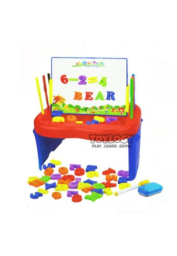 Toylogy multi Mainan Edukasi Anak Drawing White Board Studio Easel Magnetic Letters 51DF1THC32F40CGS_1
