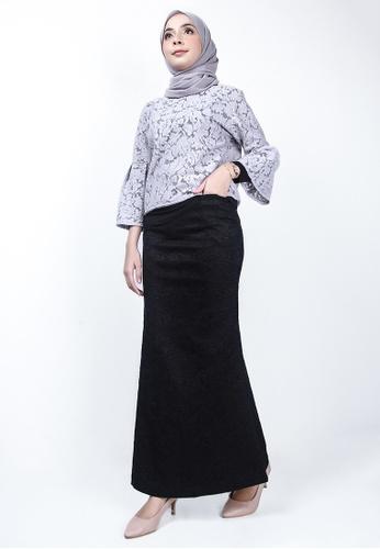 Ladies Jeans 黑色 细节织花长裙 11DB7AAC95DF94GS_1