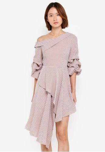 Haute Kelly brown Hae-Won Checkered Dress 1E3CDAAA8E7A86GS_1