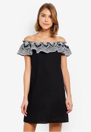 65e2580da7fe08 Buy Dorothy Perkins Black Broderie Frill Dress Online on ZALORA ...