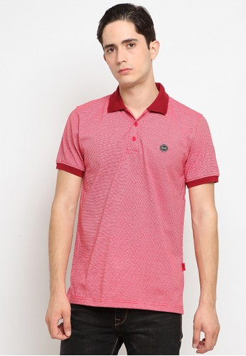 Police Denim red Comfort Polo Shirt 3B6BEAA8FDED8AGS_1