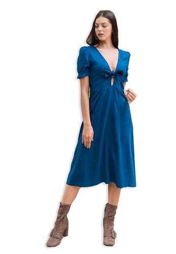 Lily & Lou blue Rebecca Dress Blue 6157EAA006719BGS_1