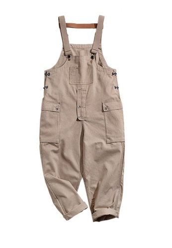 Twenty Eight Shoes 褐色 VANSA  日系復古連身背帶褲  VCM-P1807227 CEACDAA510A273GS_1