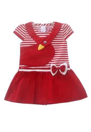 TWO MIX red Two Mix Dress Bayi Perempuan / Baju Bayi Perempuan / Gaun Bayi 4012 2625FKAF18E87BGS_1