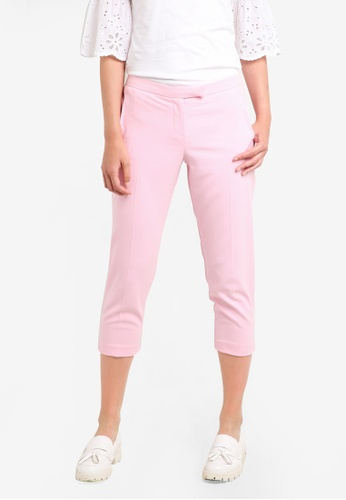 Dorothy Perkins pink Petite Pink Suit Trousers DO816AA90GWJMY_1