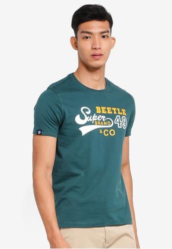 Volkswagen 綠色 短袖印花T恤 EFBC9AA445526BGS_1