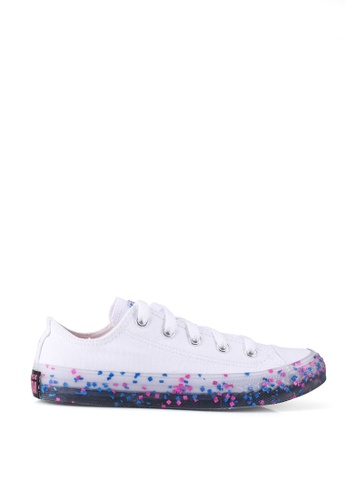 Converse white and pink Chuck Taylor All Star Ox Stuff Inside Sneakers C8B85KS2041238GS_1