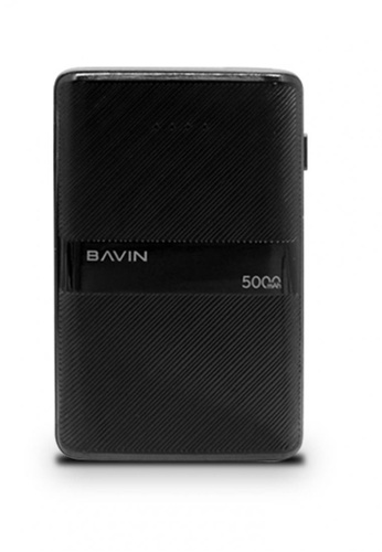 BAVIN black 5000mAh Powerbank Ultra Thin Size w/ 2.1A Dual Port 1216FAC72AC569GS_1