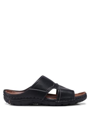 Bata black Slide-On Sandals 085FBSH76D253DGS_1