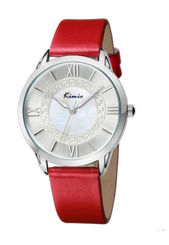 Eyki red and silver Eyki Kimio KW528M Silver Ladies Leather Watch (Red) EY078AC20RMPMY_1