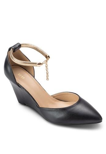 尖頭鏈飾楔型鞋, 女鞋esprit 高雄, 厚底楔形鞋