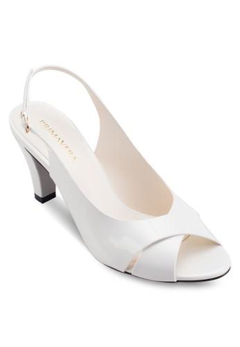 Claesprit 鞋rise 露趾繞踝粗跟鞋, 女鞋, 鞋