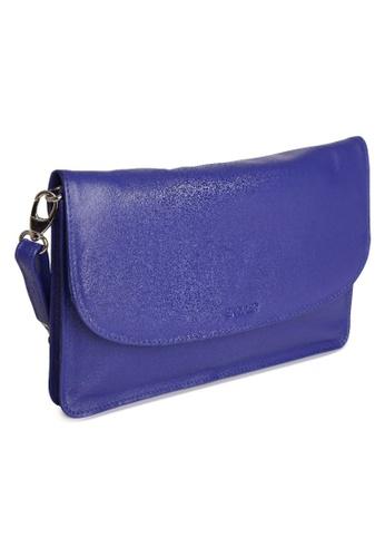 SADDLER purple SADDLER Womens Leather Cross Body Purse Clutch - Detachable Strap -Ladies Sling Bag - Purple 1ECFEAC539DA55GS_1