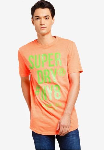 Superdry 多色 長版印花T恤 3D5CCAA4DD8DD9GS_1
