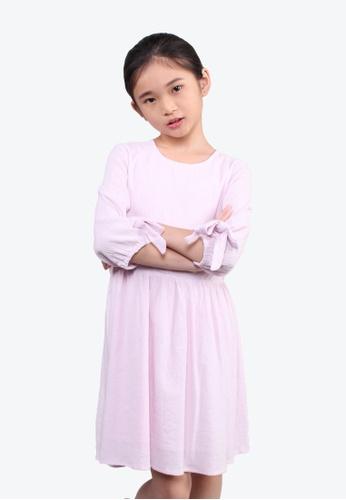 SODA pink Sweetheart Ruffles Ribbon Dress 3C00FKA309964CGS_1