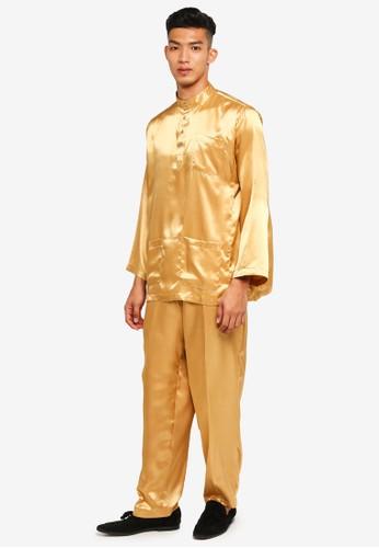 Gene Martino yellow and brown Traditional Baju Melayu 1504BAAAFAE2C2GS_1