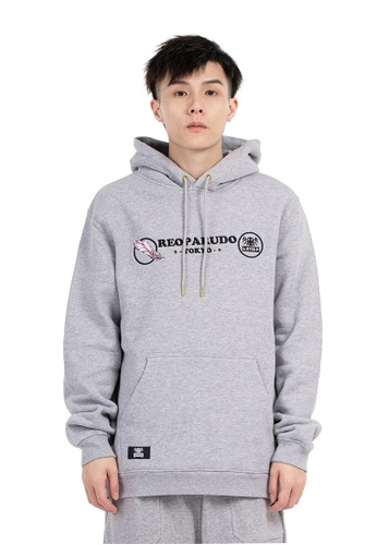 Reoparudo grey Reoparudo Feather Embroidery Reflective Hoodie (Grey) 78308AAB8257A6GS_1