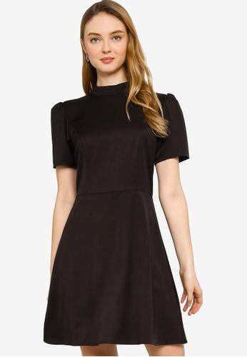 ZALORA WORK black Mock Neck A Line Dress 9D877AA6F92783GS_1