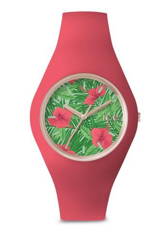 Ice Flower 花esprit sg卉圖案中性手錶, 錶類, 休閒型