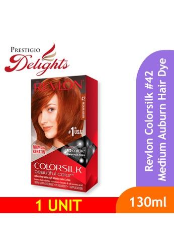 Prestigio Delights Revlon  Colorsilk 3D Hair Color Ammonia Free Hair Dye - 42 Medium Auburn EDCD6BE7351107GS_1