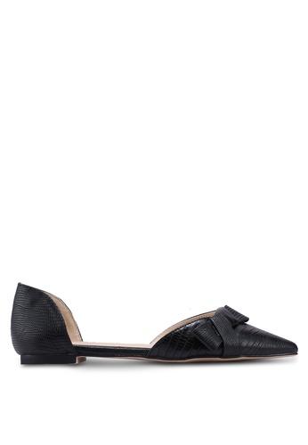 ZALORA 黑色 扭結平底鞋 88F93SHD4A6750GS_1