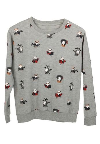 Yoru grey Sweater Panda - Abu Muda 7C38BAAB96ECE4GS_1