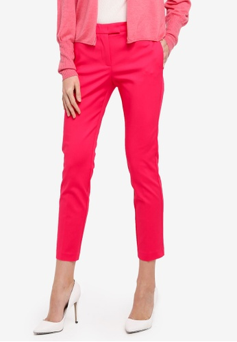 Mango pink Slim-Fit Cotton-Blend Trousers MA193AA0T0XCMY_1
