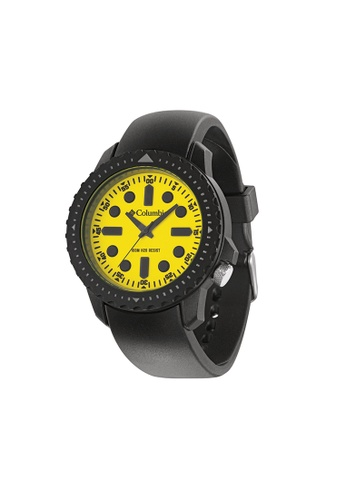 Columbia black and yellow Columbia Urbaneer II CA014-020, Black / White Case, Yellow Dial, Analogue Watch CO232AC31AAAMY_1