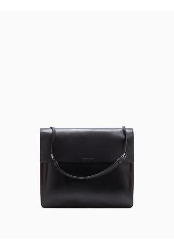 Calvin Klein black Flared Shoulder Bag F3BF3ACAD261AEGS_1