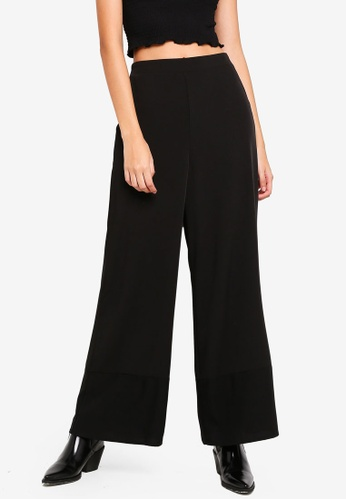 Supre black Wide Leg Cuffed Pants 1D940AA6BFC1E6GS_1