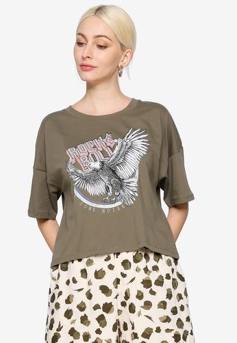Noisy May green Amy Short Sleeve Rock T Shirt E2B0CAA42988A5GS_1