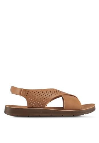 Bata brown Crossed Strap Sandals 3FA5FSH12FEF88GS_1