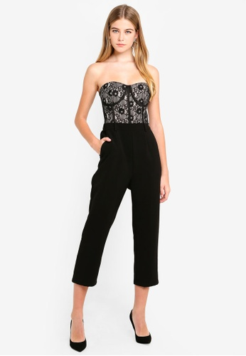 692e61e17a42 Buy Dressing Paula Corded Lace Bustier Jumpsuit