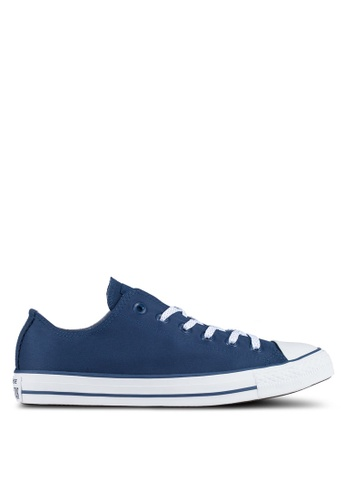 Converse grey and white and navy Chuck Taylor All Star Ox Sneakers CO302SH0SW6OMY_1