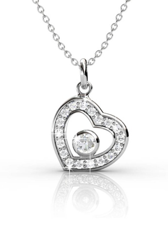 Her Jewellery silver Swarovski® Zirconia -Lovely Pendant (18K White Gold Plated) Her Jewellery HE581AC0RDH9MY_1