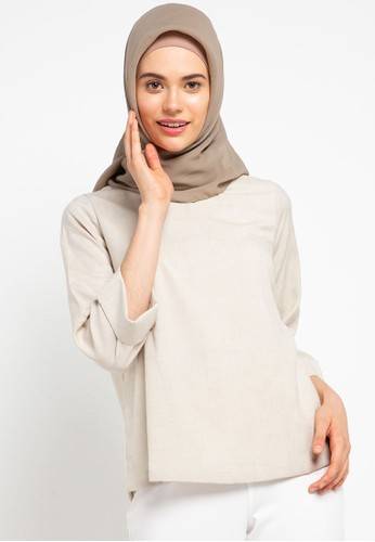 AZZAR beige June Blouse 96F4BAAD994F20GS_1
