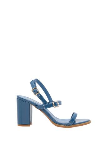 SEMBONIA blue Women Synthetic Leather Heeled Sandal 38356SHF1659C0GS_1