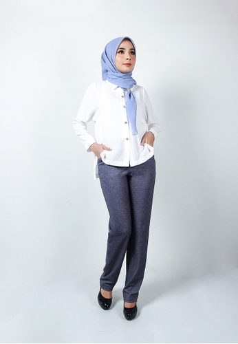 Ladies Jeans blue Fashionable Straight Long Pant 23A12AA53F8AC3GS_1
