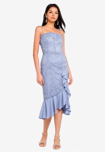 Finders Keepers blue Sunseeker Midi Dress CEDD4AAB0FDF52GS_1