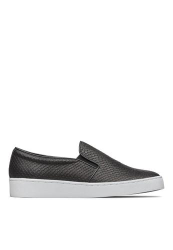 Vionic black Midi Snake Slip-On Sneaker B398DSH0690E07GS_1