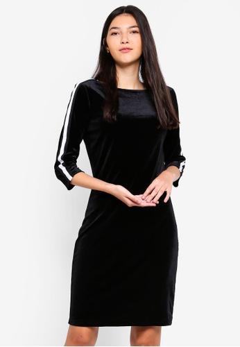 JACQUELINE DE YONG black Leo 3/4 Boatneck Dress 8E20BAA8C4710FGS_1